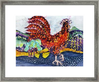 Rooster In The Morning Framed Print