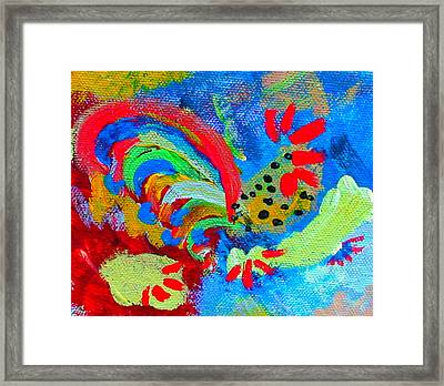 Rooster In The Sky From The Fairy Queen Framed Print