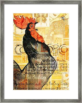 Rooster Framed Print by Jacky Gerritsen