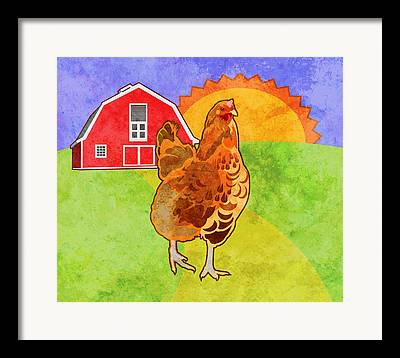 Rooster Framed Prints