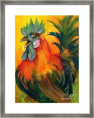 Rooster Of Another Color Framed Print