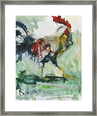 Rooster Painting Framed Print