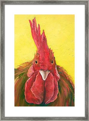 Rooster Portrait Framed Print
