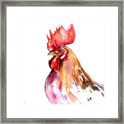 Rooster Portrait Framed Print by Suren Nersisyan
