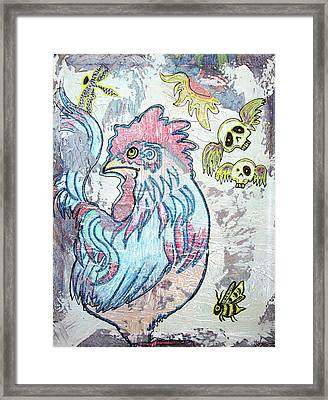 Rooster Road Framed Print by Laura Barbosa