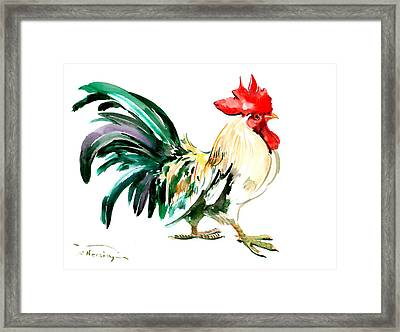 Rooster Framed Print by Suren Nersisyan