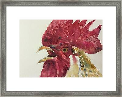 Rooster Framed Print by Yoshiko Mishina