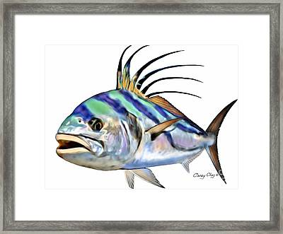 Roosterfish Digital Framed Print by Carey Chen