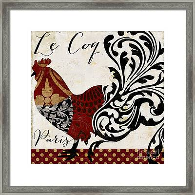 Roosters Of Paris I Framed Print by Mindy Sommers