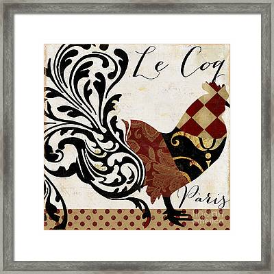 Roosters Of Paris II Framed Print by Mindy Sommers