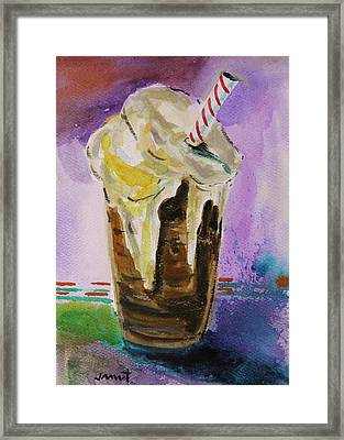 Root Beer Float Framed Print