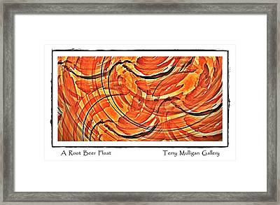 Root Beer Float Framed Print by Terry Mulligan