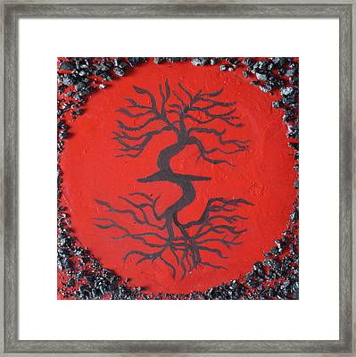 Root Chakra Red Chakra Art Framed Print