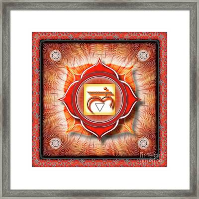 Root Chakra - Series 1 Framed Print by Dirk Czarnota