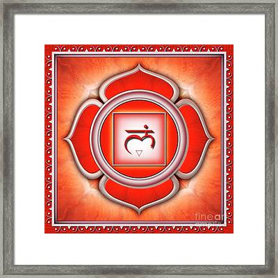 Root Chakra - Series 2 Framed Print by Dirk Czarnota