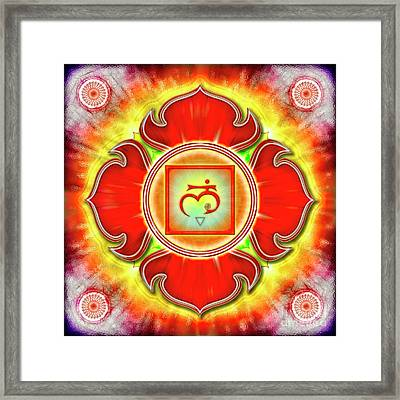 Root Chakra - Series 3 Framed Print by Dirk Czarnota