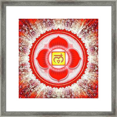 Root Chakra - Series 6 Framed Print by Dirk Czarnota