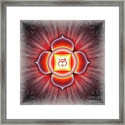 Root Chakra - Series 4 Framed Print by Dirk Czarnota
