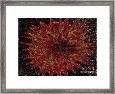 Root Flower Digital Framed Print