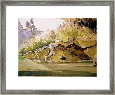 Framed Print featuring the painting Root by Steven Holder