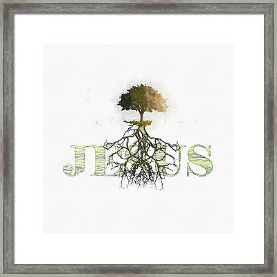 Rooted And Firmly Grounded In Love Framed Print