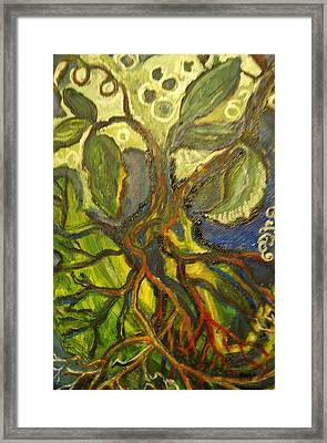 Roots And Tendrils Of Living Framed Print by Susan Brown    Slizys art signature name