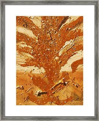 Roots Of Bronze Framed Print by Anne-Elizabeth Whiteway