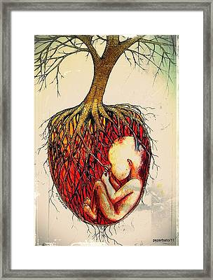 Roots Of Mother Nature Framed Print