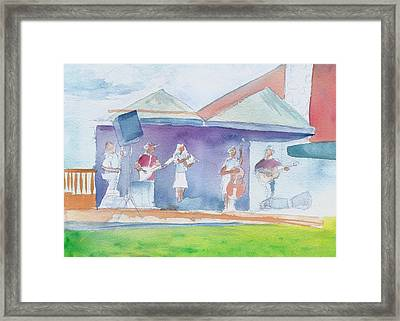 Roots Retreat Bluegrass Framed Print