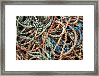 Rope Background Framed Print