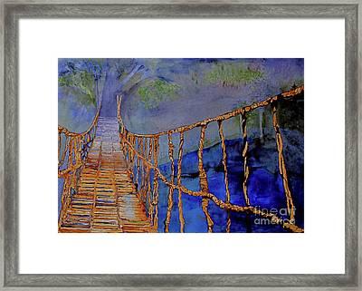 Rope Bridge Framed Print
