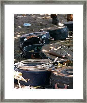 Rope Cans.. Framed Print by Carol Miller