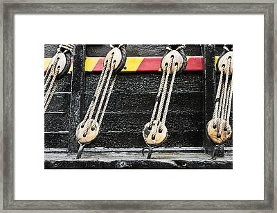 Rope Fastening Framed Print by Tom Gowanlock