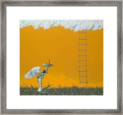 Rope Ladder Framed Print