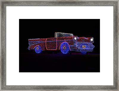 Rope Light Art 1957 Chevy Framed Print by Thomas Woolworth