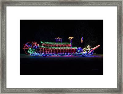 Rope Light Art Paddle Boat Framed Print by Thomas Woolworth