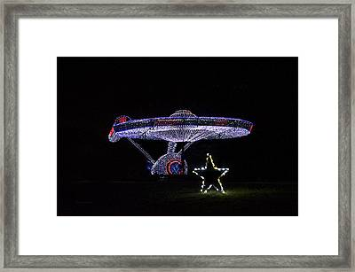 Rope Light Art Star Trek Enterprise Framed Print by Thomas Woolworth