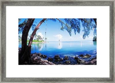 Rope Swing Over Water Florida Keys Framed Print by Panoramic Images