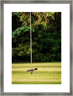 Framed Print featuring the photograph Rope Swing  by Shelby Young