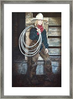 Ropen Ready Framed Print by Traci Goebel
