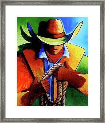 Roper Framed Print by Lance Headlee