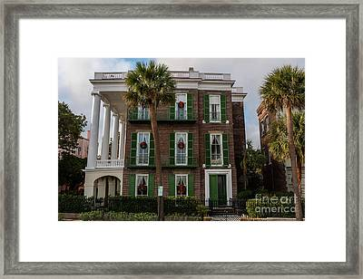 Roper Mansion In December Framed Print