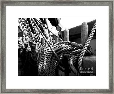 Ropes At The Ready Framed Print by Lexa Harpell