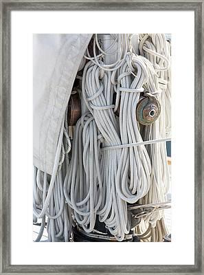 Ropes Of A Sailboat Framed Print
