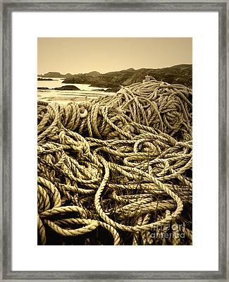 Ropes On Shore Framed Print