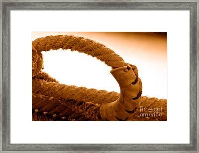 Roping Gear - Sepia Framed Print