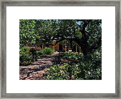 Framed Print featuring the photograph Roque House Gardens by Ken Frischkorn