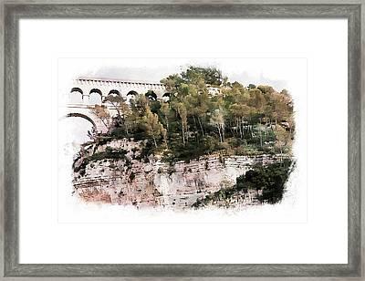 Roquefavour Aqueduct Framed Print by Hugh Smith