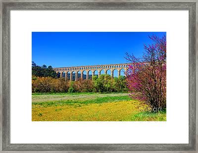 Roquefavour Aqueduct Framed Print by Olivier Le Queinec