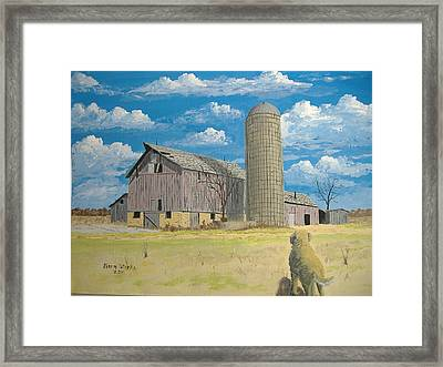 Framed Print featuring the painting Rorabeck Barn by Norm Starks